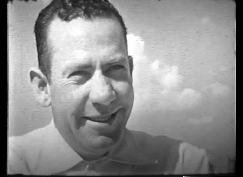Still image of John Steinbeck from home movies made by the author whose books became historic films.