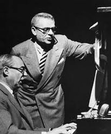 Rodgers and Hammerstein pictured at the piano