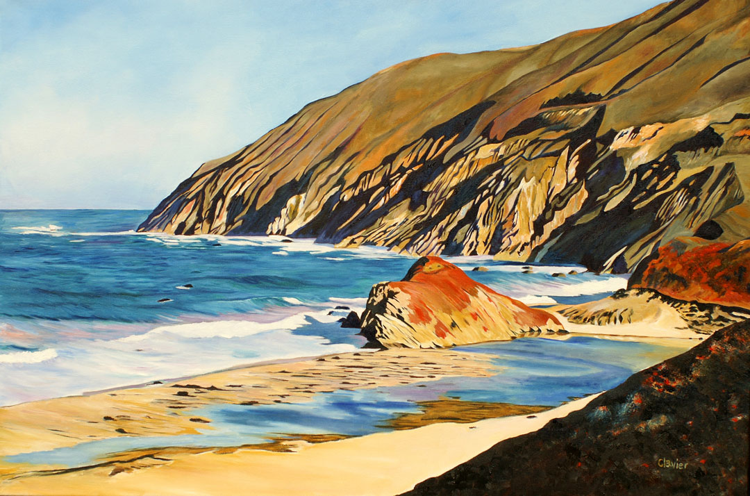 The Wild Coast paining by Ron Clavier
