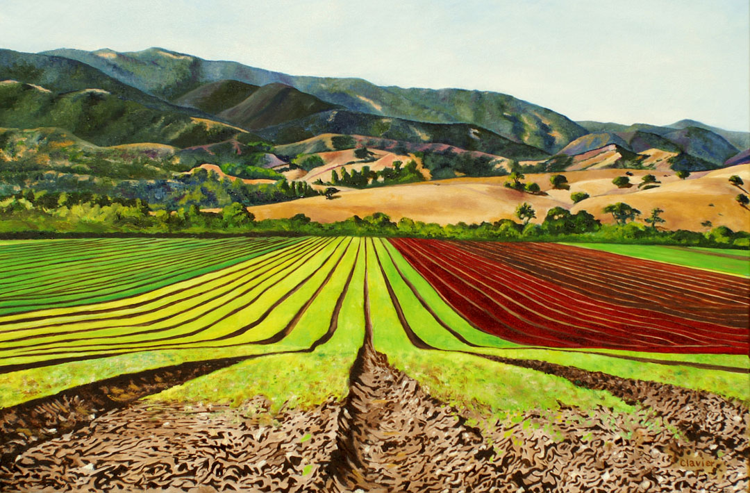 The Mile-Long Rows painting by Ron Clavier