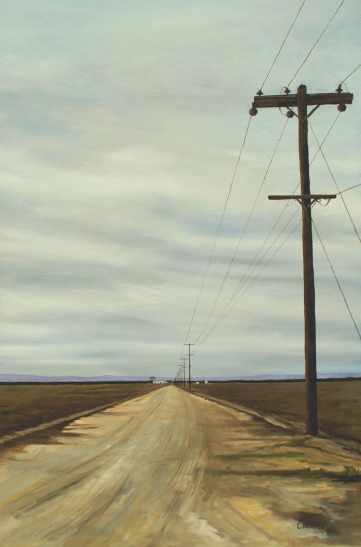 Image of The Fallow Fields, painting by Ron Clavier