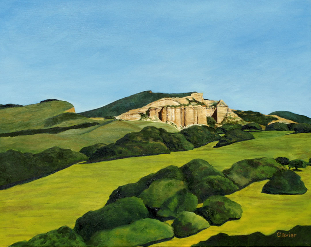 Cañon Del Castillo painting by Ron Clavier