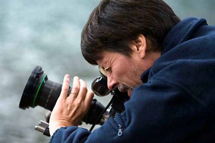 Ken Burns filming documentary