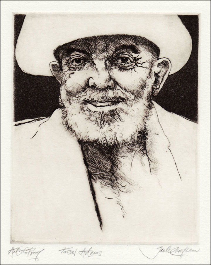 Jack Coughlin's portrait of Ansel Adams shown in image