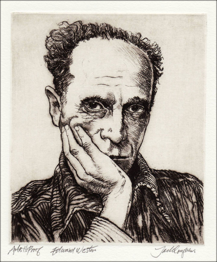 Jack Coughlin's portrait of Edward Weston shown in image