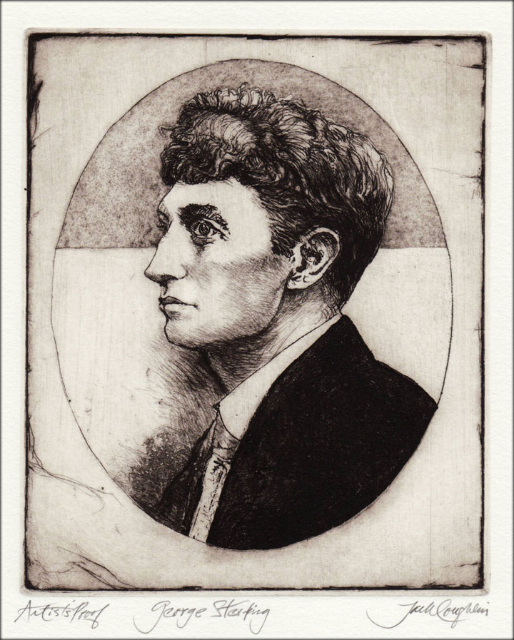 Jack Coughlin's portrait of George Sterling shown in image