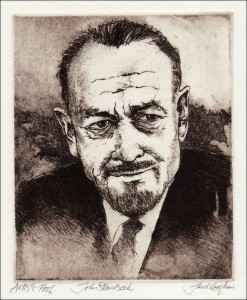 Image of John Steinbeck portrait by Jack Coughlin