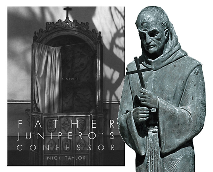 Father Junipero's Confessor book cover with image of Father Serra