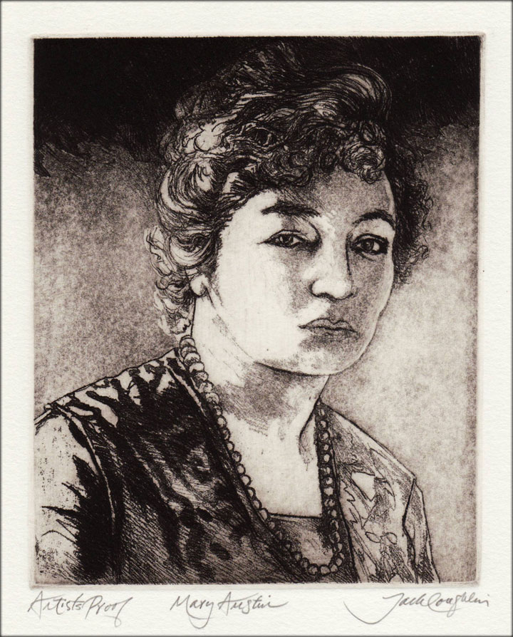 Jack Coughlin's portrait of Mary Austin shown in image