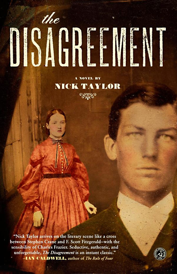 Nick Taylor's first novel cover, The Disagreement