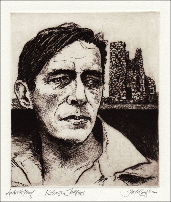 Jack Coughlin's portrait of Robinson Jeffers shown in image