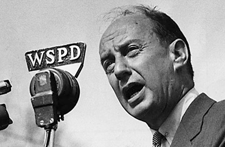 Image of Adlai Stevenson, presidential candidate and critic of surveillance overreach