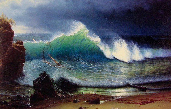 Albert Bierstadt's painting California Coast shown