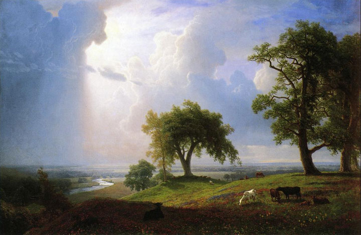Albert Bierstadt's painting California Spring shown