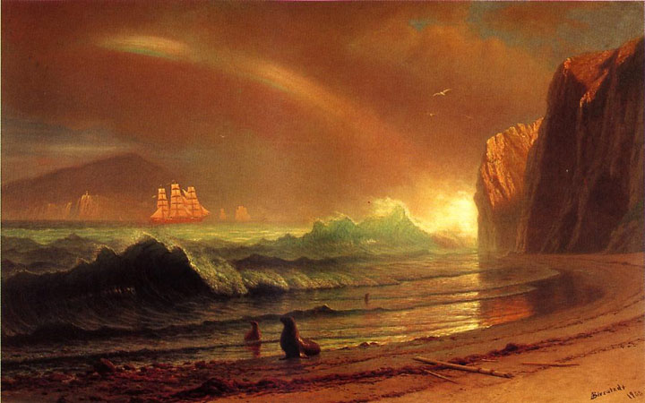 Albert Bierstadt's painting Above the Golden Gate shown