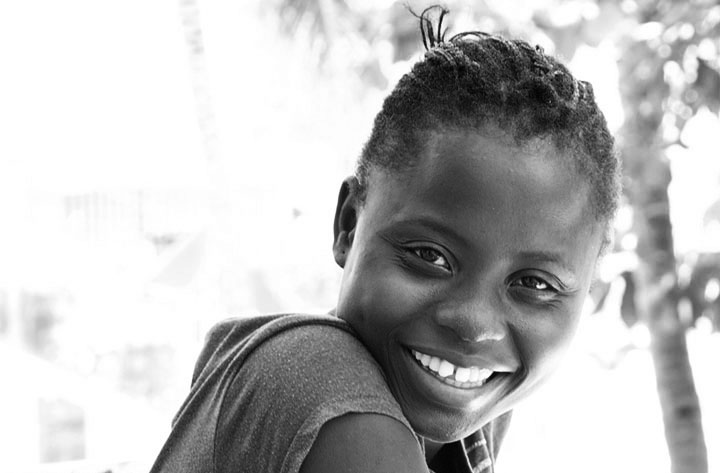 Image of Yolene Felix, children's art student in Jacmel Haiti