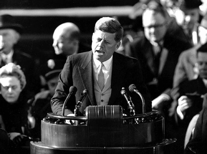 Image of John Kennedy's inaugural address