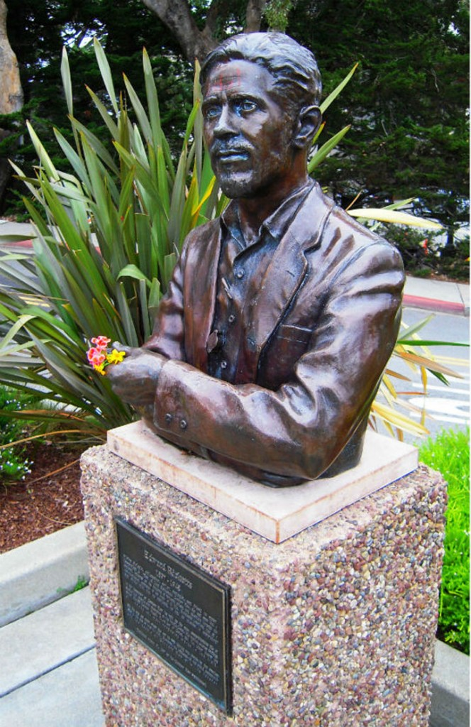 Ed Ricketts bust at Cannery Row in Monterey shown