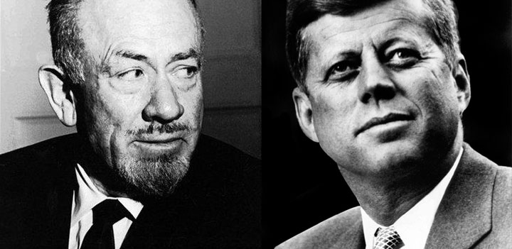 Composite image of John Steinbeck and John Kennedy