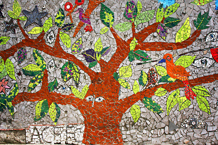 Image of mosaic art by young artists from Art Creation Foundation for Children