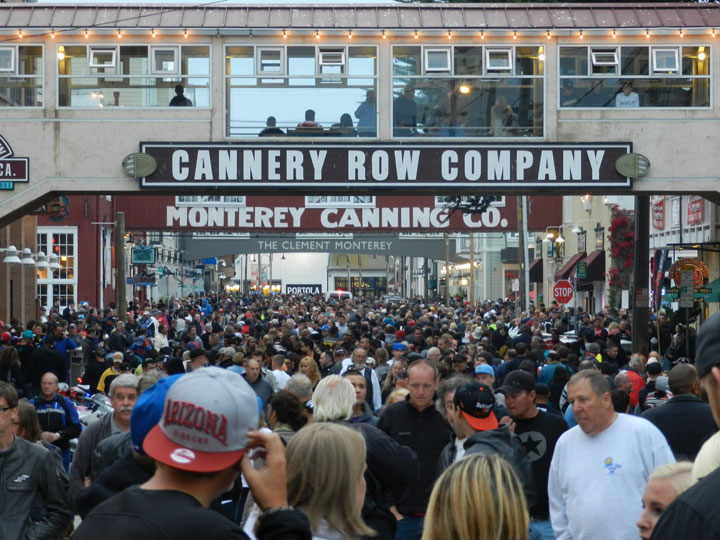 Image of a Cannery Row crowd