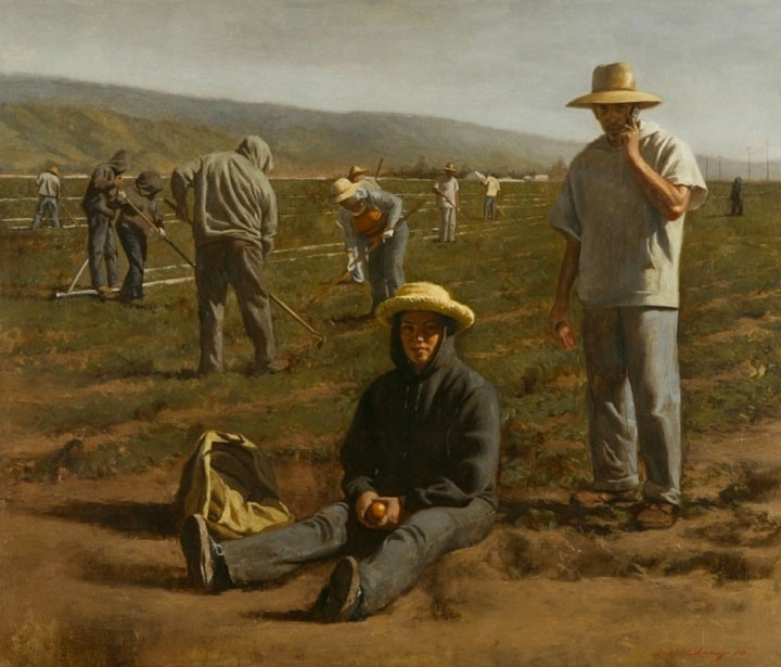 "Image of ""Fall Tilling,"" painting by Warren Chang"