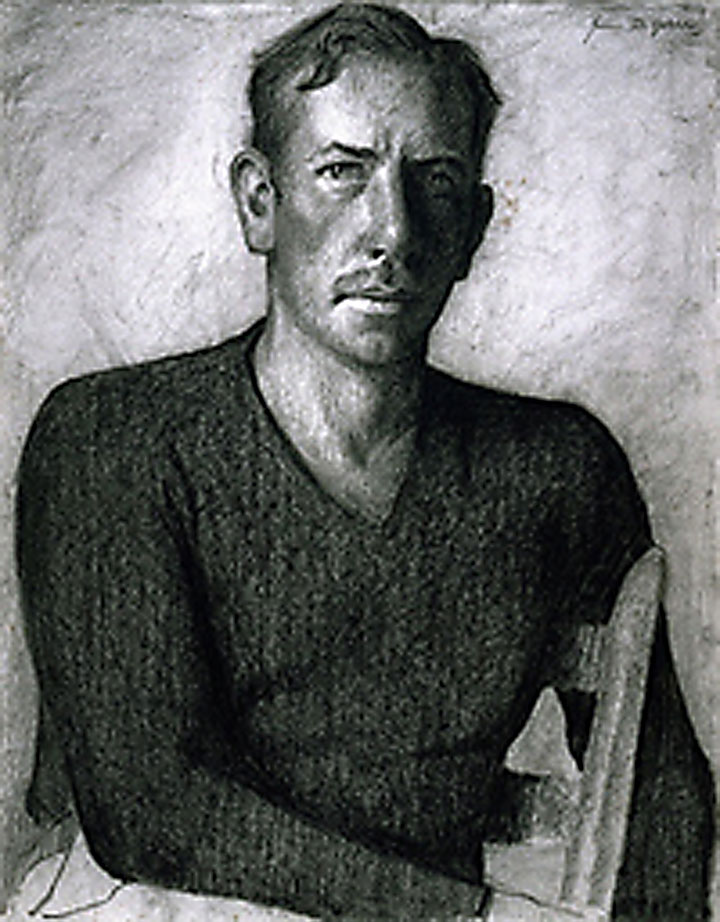 Image of John Steinbeck portrait by James Fitzgerald