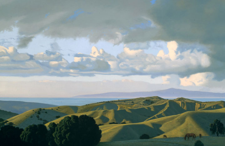 "Image of ""Landscape with a Red Pony,"" painting by David Ligare"