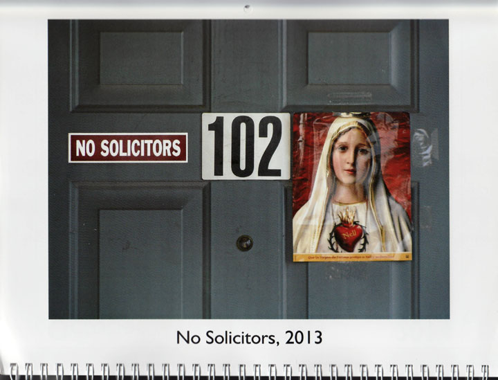 "Image of ""No Solicitors, 2013,"" photograph by Jessie Chernetsky"