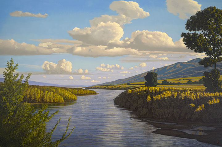 "Image of ""River,"" painting by David Ligare"
