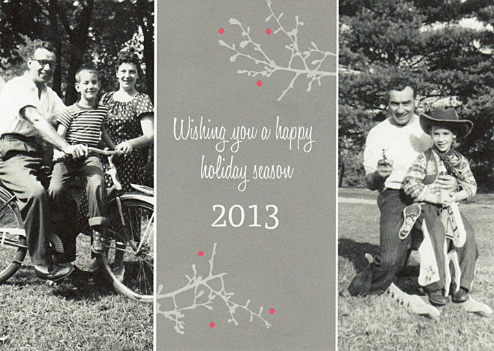 Image of Robert DeMott's 2013 Christmas card and poem