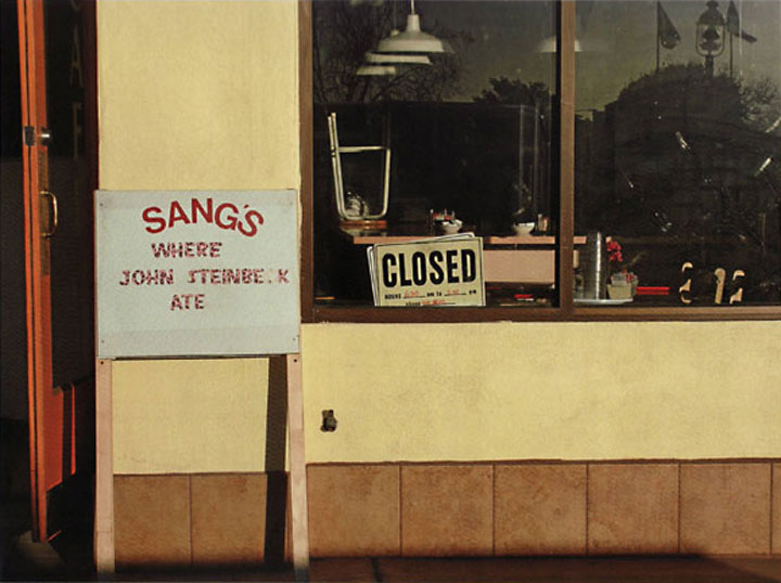 "Image of ""Sang's Cafe"" in Salinas, photograph by Jessie Chernetsky"