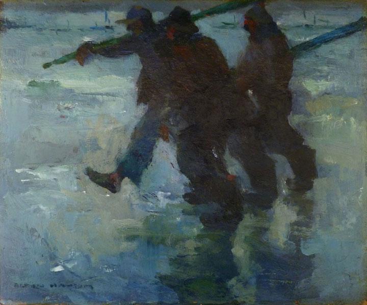 Image of Armin Hansen painting fully restored