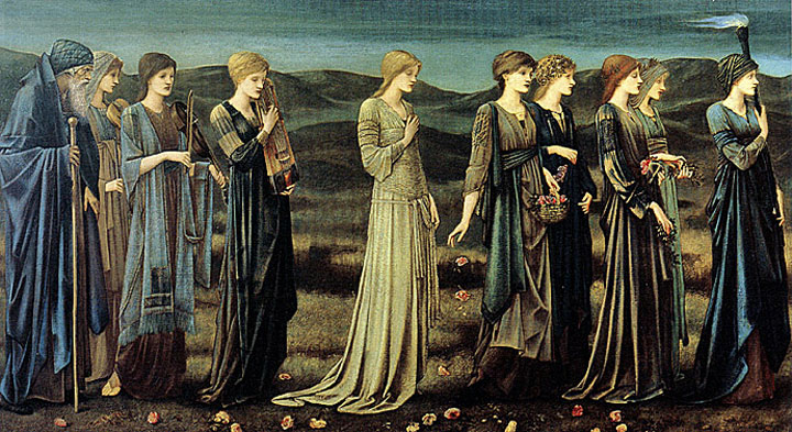 "Image of ""The Marriage of Psyche,"" painting by Burne-Jones"