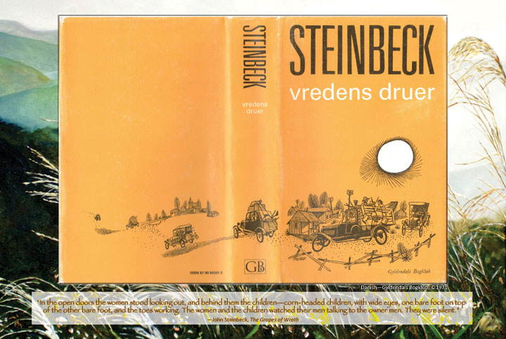 Cover image from Dutch edition of John Steinbeck's The Grapes of Wrath