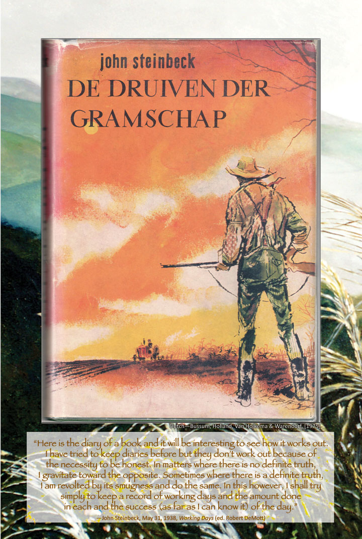 Cover image from The Grapes of Wrath Dutch edition