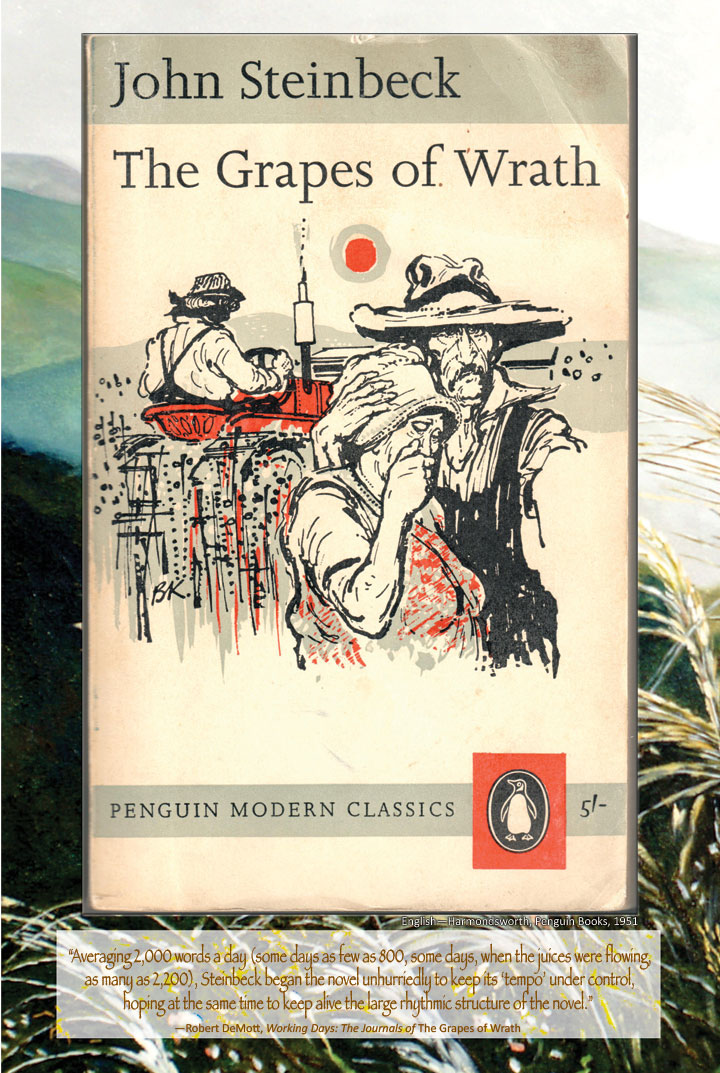 Cover image from The Grapes of Wrath English edition