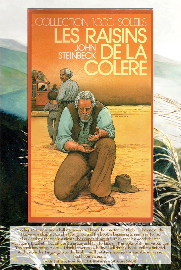 Cover image from The Grapes of Wrath French edition