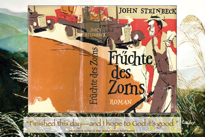 Cover image from The Grapes of Wrath German edition