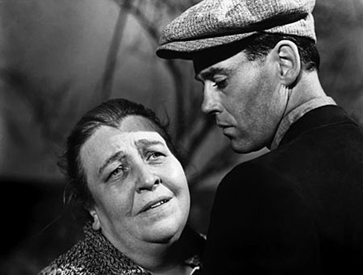 Image of Jane Darwell and Henry Fonda in movie version of The Grapes of Wrath