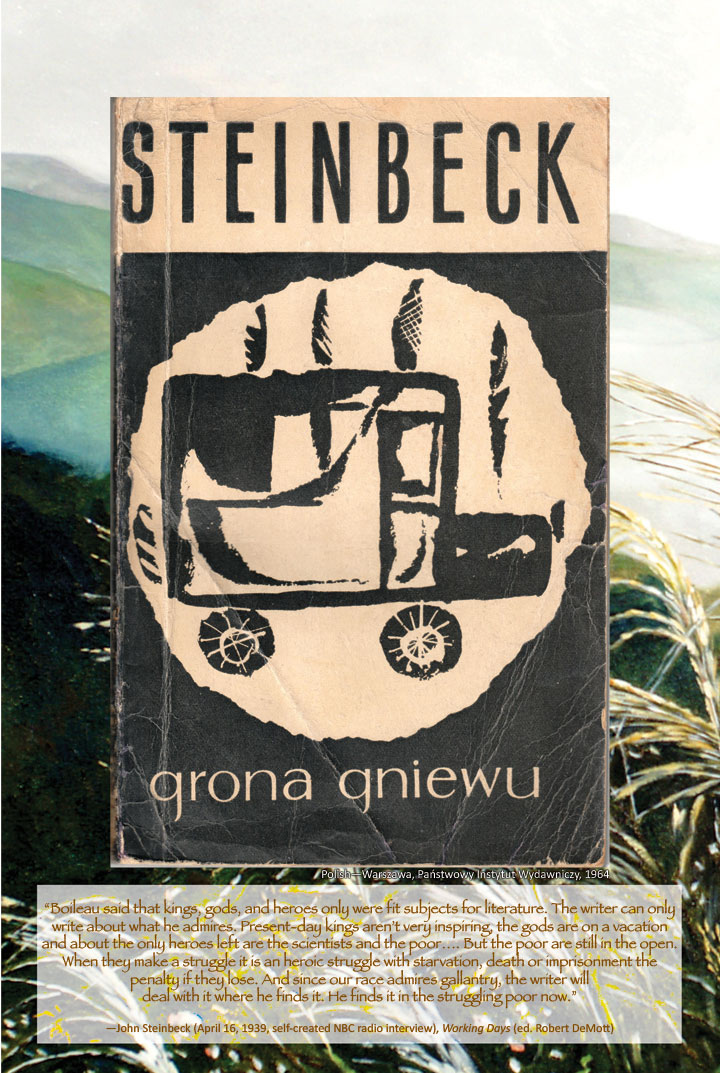 Cover image from The Grapes of Wrath Polish edition
