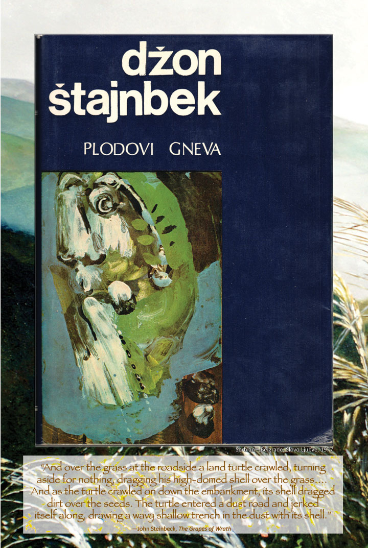 Cover image from The Grapes of Wrath Serbian edition