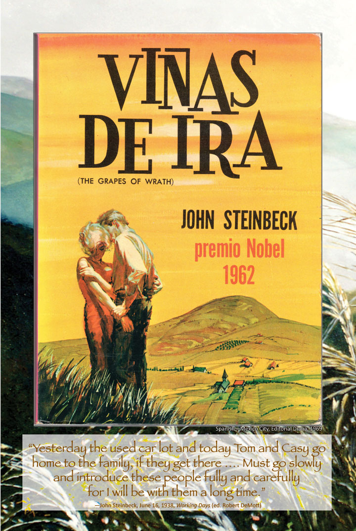 Cover image from The Grapes of Wrath Spanish edition