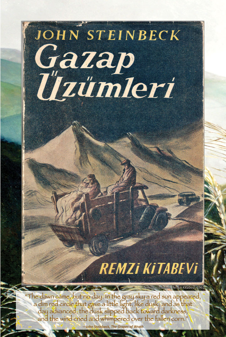 Cover image from The Grapes of Wrath Turkish edition