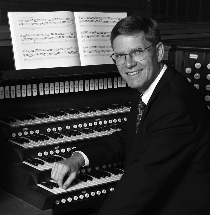Image of James Welch, organist for the August 22 Steinbeck concert at Carmel Mission