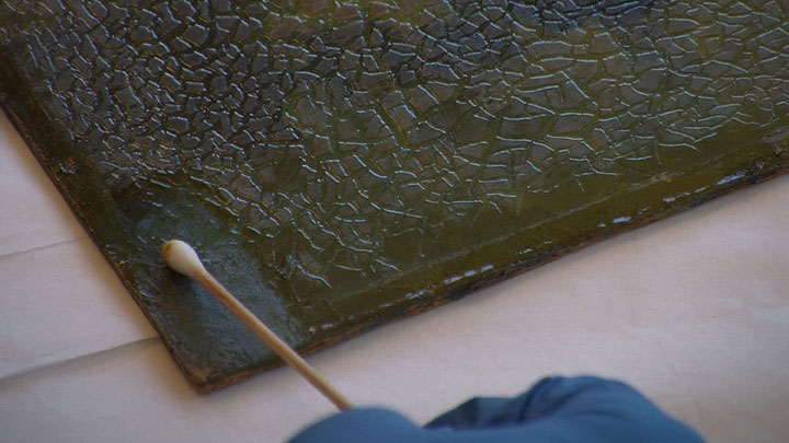 Image of Armin Hansen painting restoration step #3