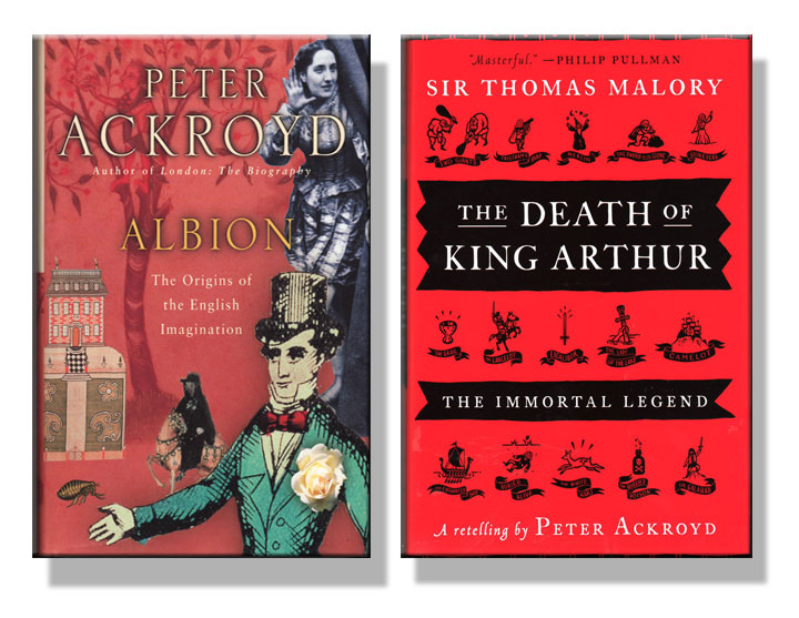 Cover image from two books on English literature by Peter Ackroyd