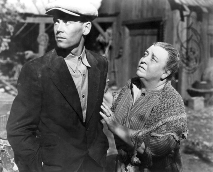 Image of fictional Joads from film version of The Grapes of Wrath