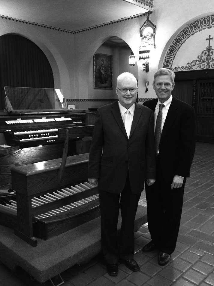 Image of Franklin Ashdown and James Welch at Mission Santa Clara