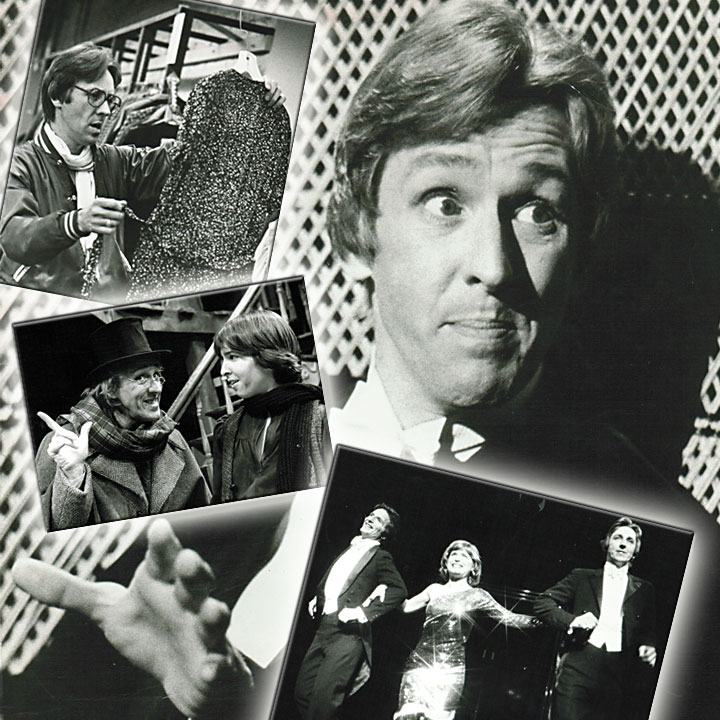 Image of Alan Brasington as Noel Coward, Scrooge, and costume designer
